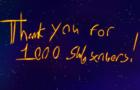 my 1000 subscriber thankyou