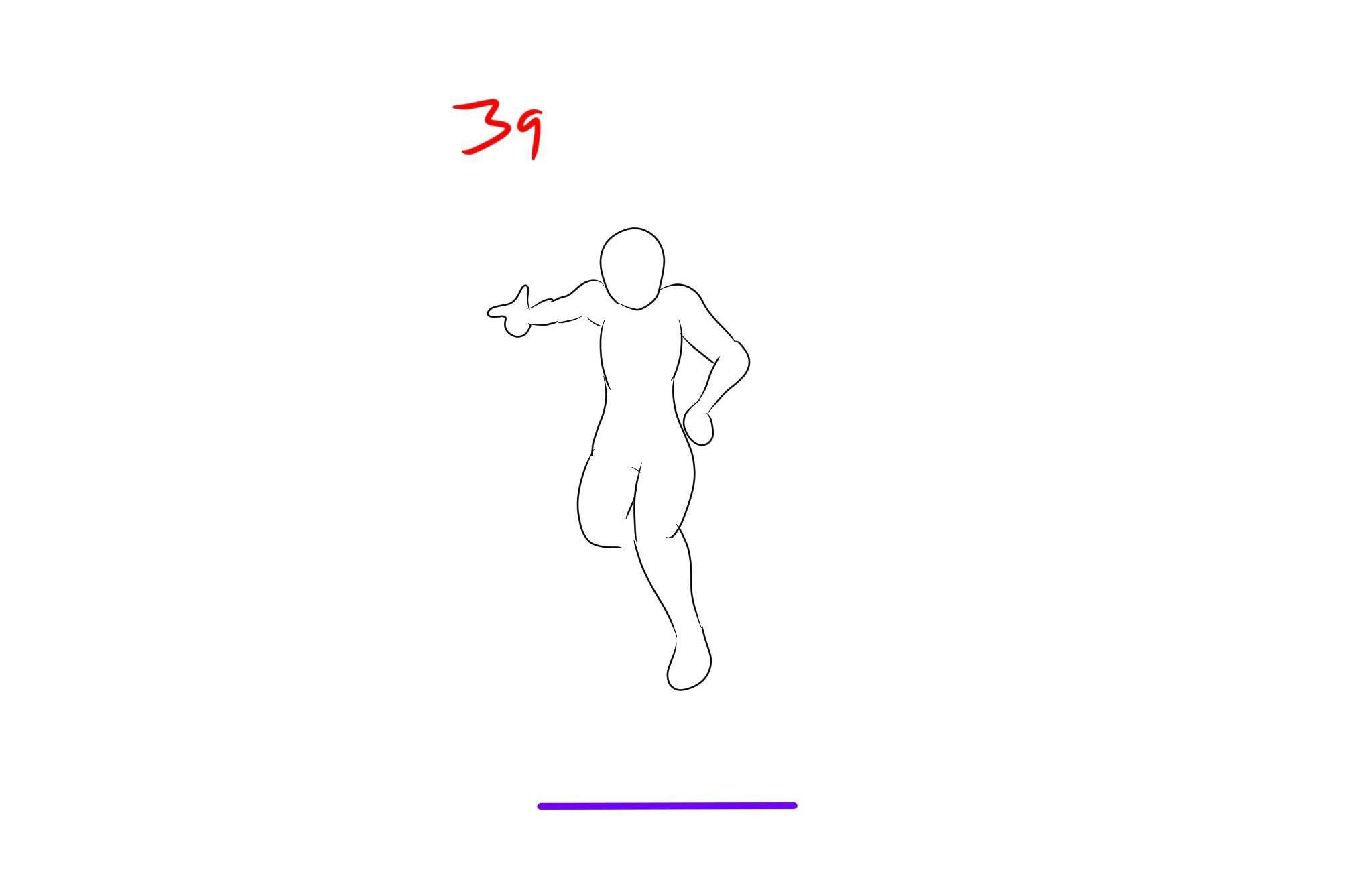 Fortnite default dance animation study