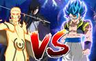 Hokage Naruto & Sasuke VS Gogeta