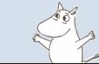 The Moomins meet the Groke