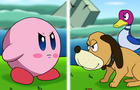 Kirby vs Duck Hunt