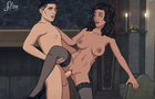 Lana Kane and Sterling Archer