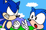 Modern Sonic Meets Classic Sonic