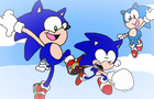 Modern Sonic & Classic Sonic Meet Dreamcast Sonic in Sonic Forces