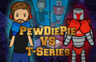 PewDiePie vs T Series Boxing Fight Animation