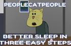 Better sleep in three steps - People Cat People