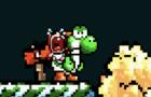 Yoshi had enough with baby mario