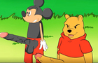 Mickey mouse and Winiie the pooh huge dick