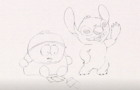 Cartman VS Stitch (Pencil and Paper)