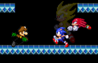 Mike Saber VS Sonic and Knuckles