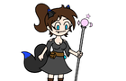 wolf girl witch (practice animation)