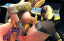 2B and Сommander playing with dildo Deep Anal