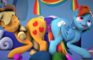 Rainbow Dash/Applejack Double dildo Animation