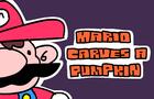 mario carves a pumpkin
