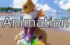 Renamon at the Beach Animation
