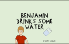 Benjamin Drinks Some Water