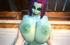 SORIA - SEXY BIG TITTY ELF BATHTIME AND TITFUCK