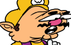 Wario falls down the stairs while playing Candy Crush