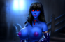 Commission OC Morella breast jiggle