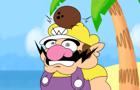 Wario gets hit in the head have a coconut and fucking dies