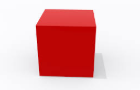 A small red cube