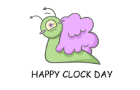 Happy Clock Day with Brainsnailclock