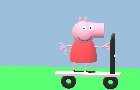 Peppa Pig Learns how to Ride a Scooter