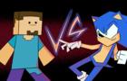 Steve VS Sonic SUPER SMASH BROS ANIMATION
