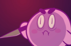 KID PULLS A KNIFE OVER PIZZA - kirby version