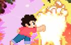 (sprite animation) X meets Steven Universe part 2: X vs. Steven Universe