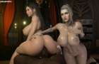 Tifa & Scarlet Blacked
