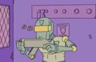 A cyberpunk animation
