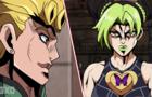 Jolyne vs Giorno (Jotaro vs DIO Parody)