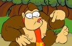 Donkey Kong finds a banana!!!.