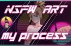 My Pixel art process - Mercy Overwatch