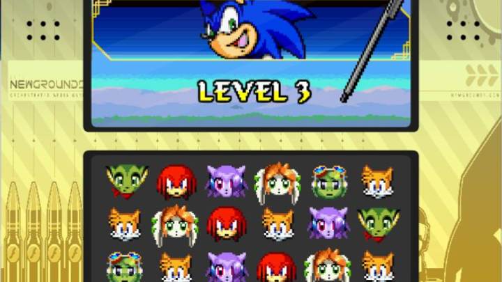 Sonic in Hide n Seek Heros