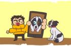 justin feeds his dog