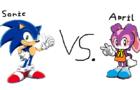 Sonic the hedgehog vs April the rabbit