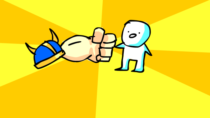 Samuran punch the child