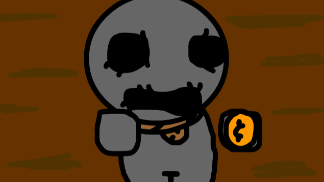 Morshu but it's the Shopkeeper from TBOI