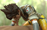 Tracer doing a mission