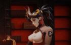 Mercy futa and Tifa Threesome