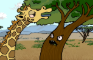 A High Giraffe Explains the Circle of Life to a Pissed Off Tree