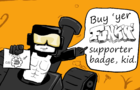 Buy Your FUNKIN' Supporter Badge - Tankman's PSA
