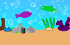 5 Second Fish Animation Composition