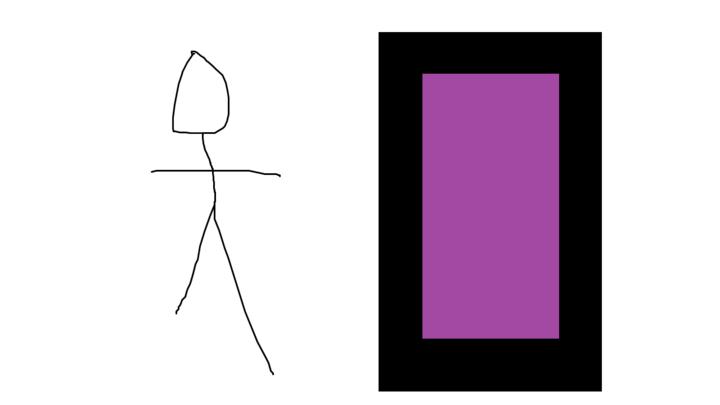 Stickman goes to Minecraft
