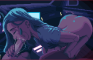 Cyber girl car BJ - pixel art