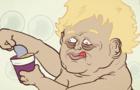 Boris Johnson Eats A Pot Noodle In The Bath