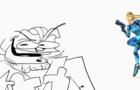 Scongili Encounters Shamus (doodle)