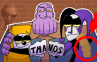 THANOS WORKS AT GIGGLECORP